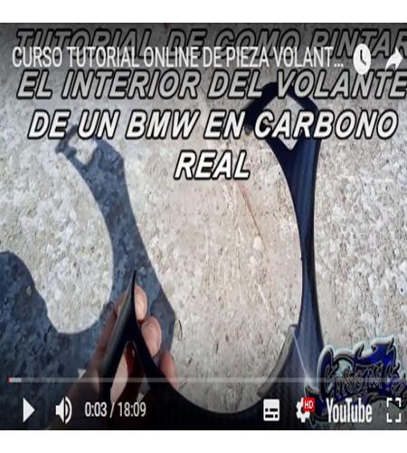 CURSO ONLINE DE PREPARACION DE HIDROGRAFIA CARBONO INTERIOR DE VOLANTE BMW