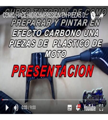 CURSO ONLINE DE PREPARACION DE HIDROGRAFIA CARBONO RETROVISORES DE MOTO