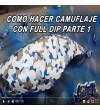 CURSO ONLINE DE FULL DIP CAMUFLAJE MILITAR BLANCO BEIGE AZUL Y ANTRASITA
