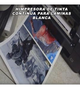 IMPRESORA DE LAMINAS BLANCA PARA HIDROIMPRESION A4 MODELO TINTA CONTINUA