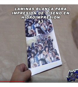 HOJAS BLANCA PARA HIDROIMPRESION CON IMPRESORA DE CASA A3
