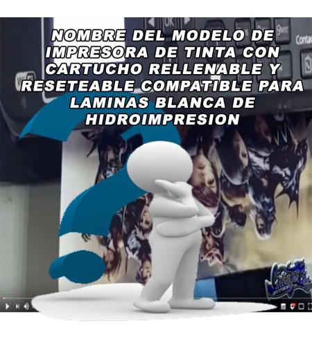 NOMBRE DE MODELO DE IMPRESORA CARTUCHO RECARGABLE