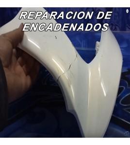 REPARACION DE ENCADENADO DE PLASTICO DE MOTO