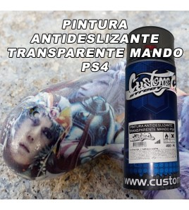 PINTURA TRANSPARENTE  SPRAY ANTIDESLIZANTE PARA MANDO PS4 NE