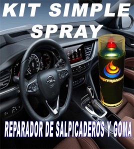 KIT SIMPLE SPRAY REPARADOR O RESTAURADOR DE PLASTICO Y GOMA.