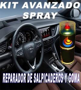 KIT AVANZADO  REPARADOR O RESTAURADOR DE PLASTICO Y GOMA. SPRAY