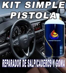 KIT SIMPLE PISTOLA REPARADOR O RESTAURADOR DE PLASTICO Y GOMA.