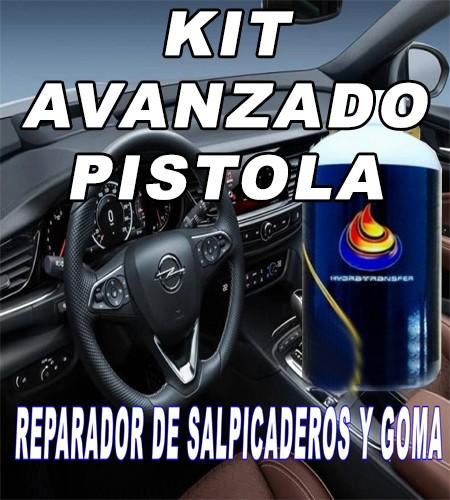 KIT AVANZADO PISTOLA REPARADOR O RESTAURADOR DE PLASTICO Y GOMA.